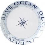 Lautanen, matala, ø 25cm, Blue Ocean