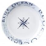Lautanen, syvä, ø 21cm, Blue Ocean